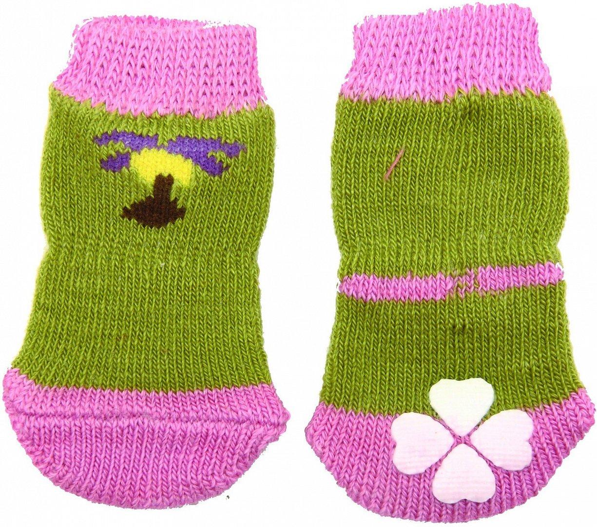 Носки с прорезиненной подошвой L