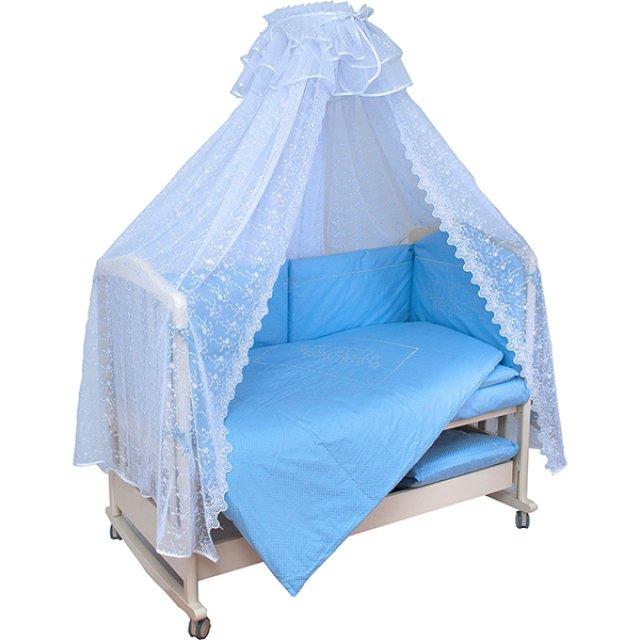 Купить Комплект в кроватку Мой Ангелок Верные друзья голубой, 7 предметов,