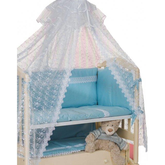 Купить Комплект в кроватку Мой Ангелок Умка голубой, 7 предметов,