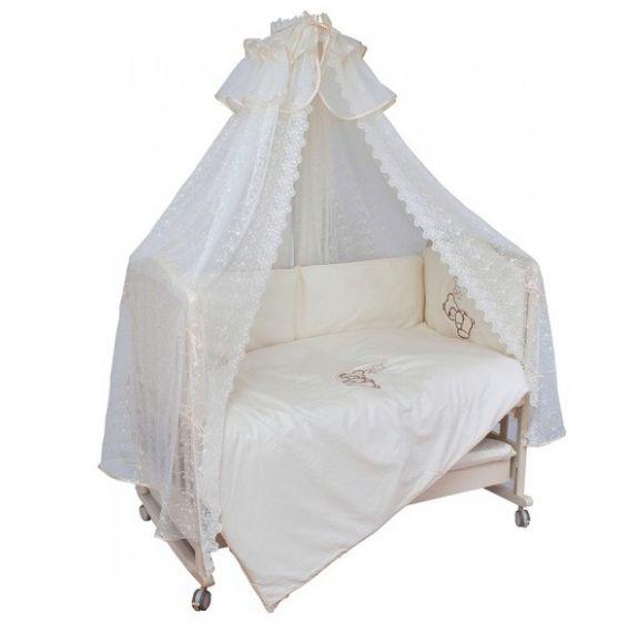 Купить Комплект в кроватку Мой Ангелок Лунный друг шампань, 7 предметов,