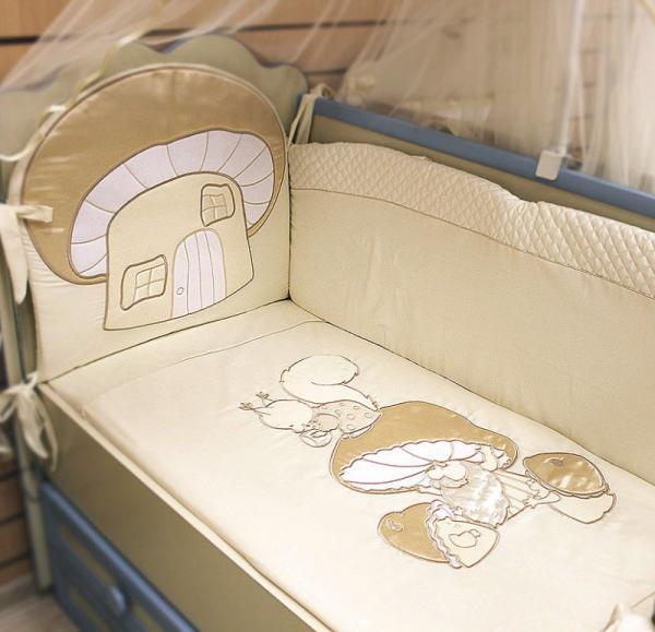 Купить Комплект в кроватку Селена Грибочек С-90 стандарт,