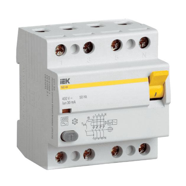 Выключатель дифференциального тока (УЗО) IEK \