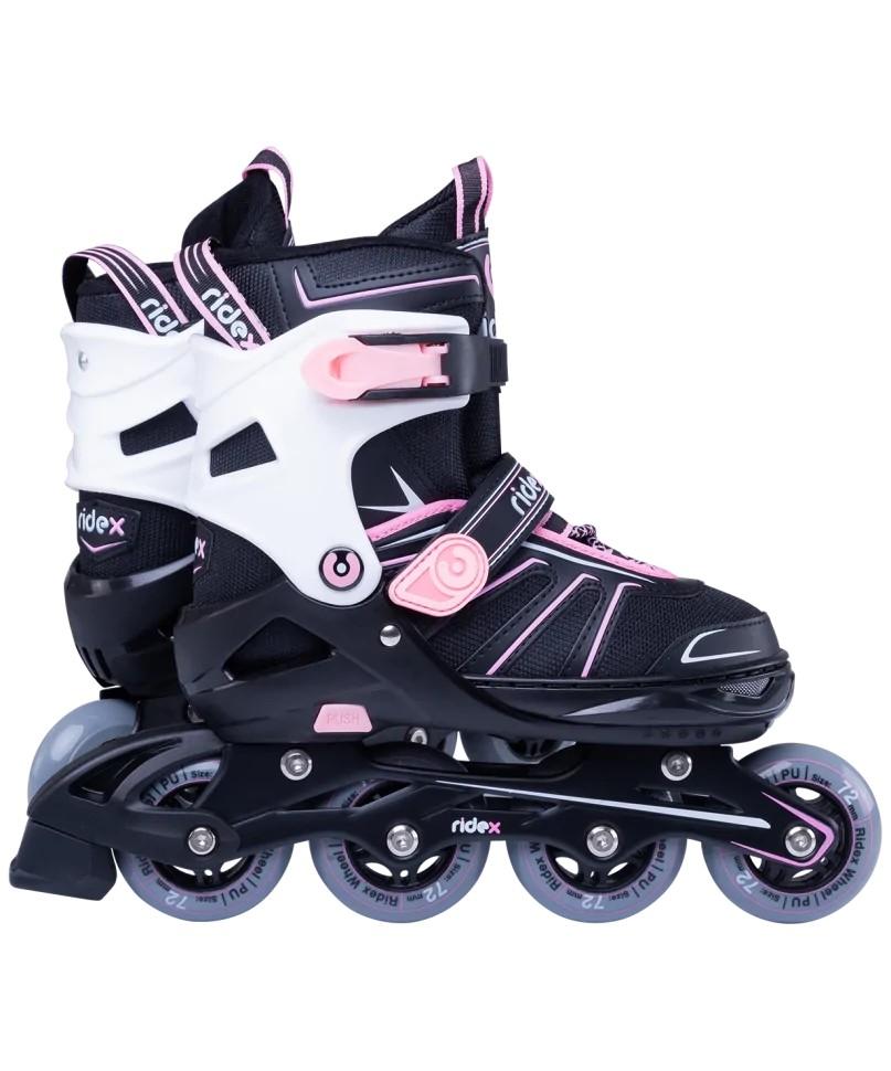 Ролики раздвижные Ridex Halo Pink алюминиевая рама,