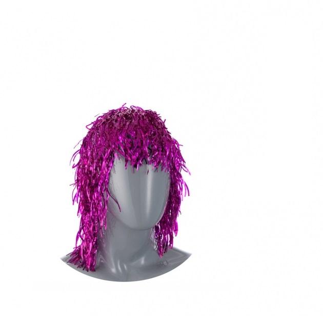 Аксессуар для карнавала Snowmen Парик из мишуры 35 см Е60132