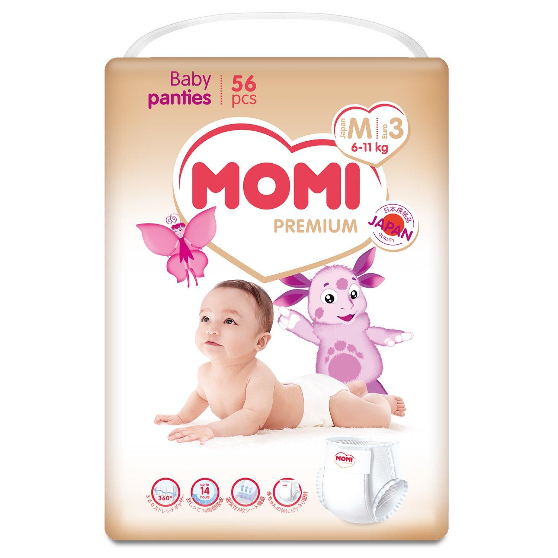 Купить Подгузники-трусики MOMI Premium M (6-11 кг), 56 шт.,