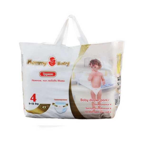 Трусики-Подгузники Mommy Baby 4 (9-15 Кг), 42 Шт.,  - купить со скидкой