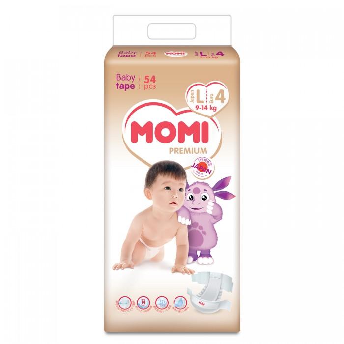Купить Подгузники MOMI Premium L ( 9-14 кг), 54 шт.,
