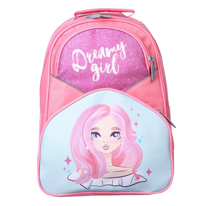 Купить Рюкзак школьный Calligrata Принцесса, 37х26х13 см, Школьные рюкзаки для девочек
