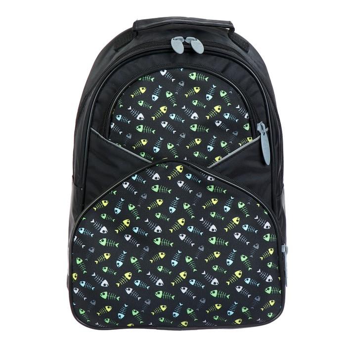 Купить Рюкзак школьный Calligrata Рыбки, 37х26х13 см, Школьные рюкзаки для девочек