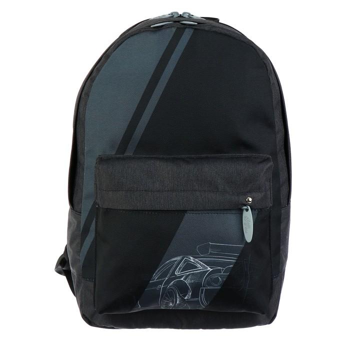 Купить Рюкзак молодежный Calligrata Тачка, 38х28х19 см, Школьные рюкзаки для девочек