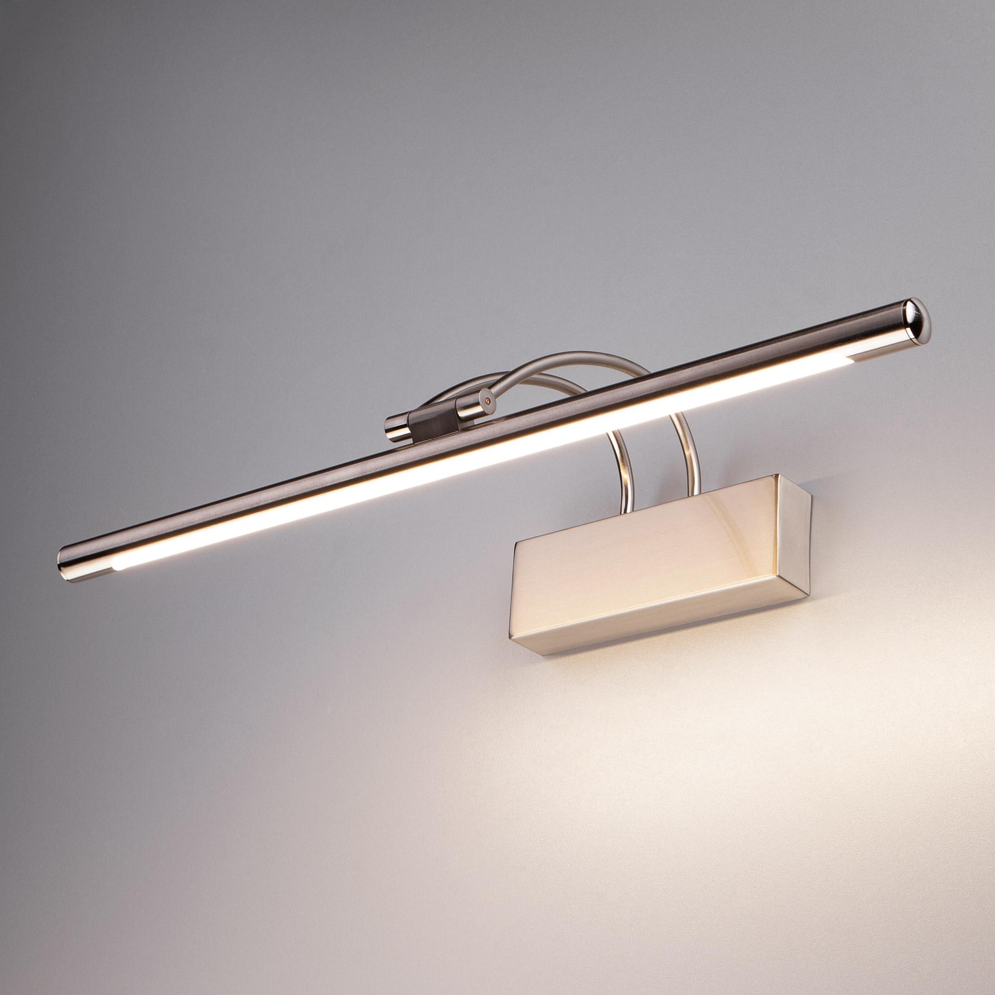 Светодиодный настенный светильник Евросвет 1011 Simple LED 10W IP20 никель фото