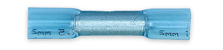 Соединитель под опрессовку термоусаживаемый с клеем синий