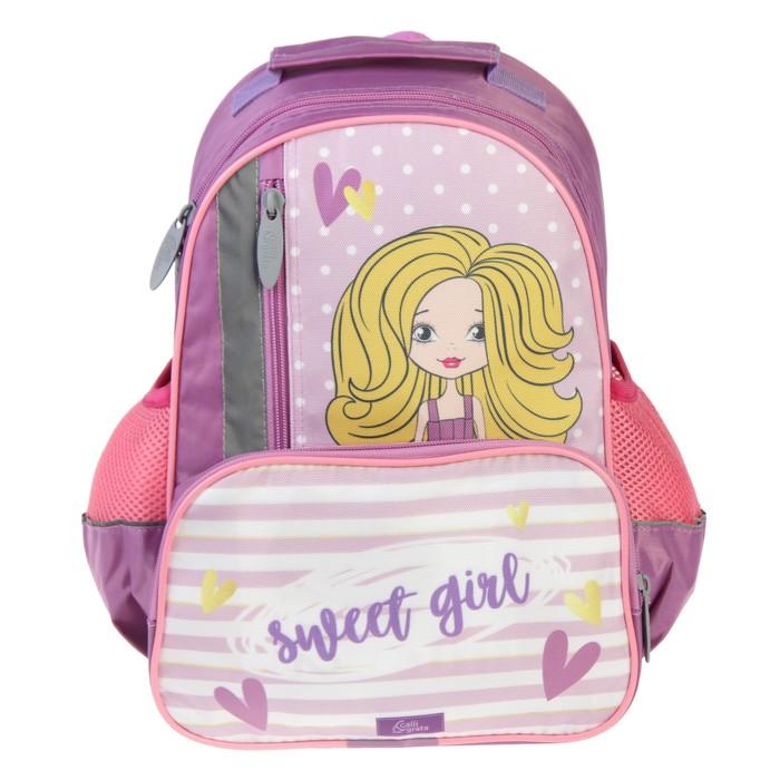 Купить Рюкзак школьный Calligrata Модная Девочка, 37х26х13 см, Школьные рюкзаки для девочек