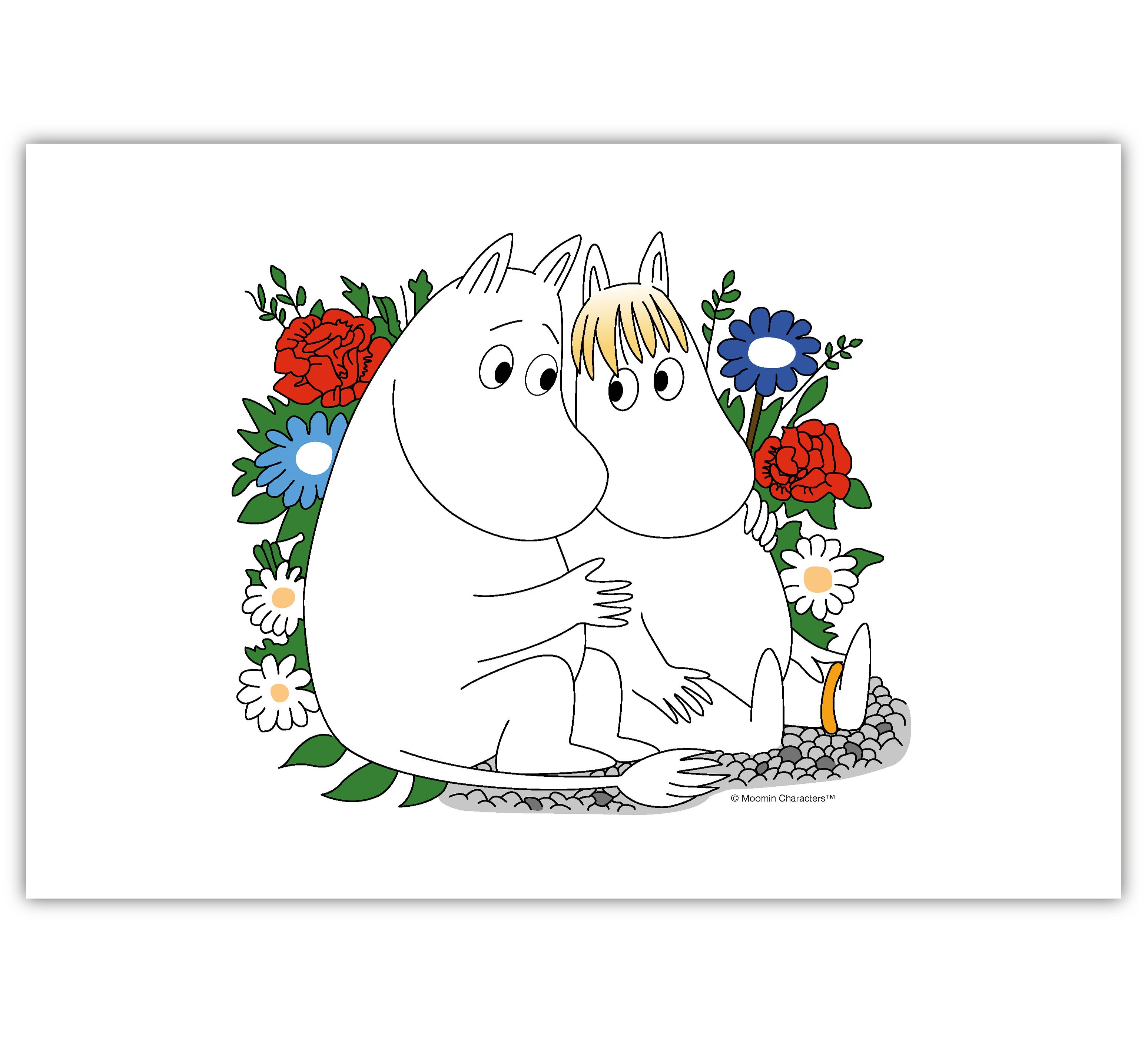 Настольный коврик Moomin Муми Тролль и Фрекен