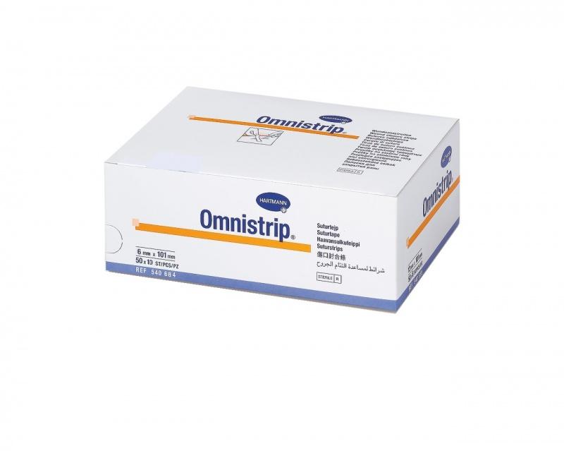 Купить Полоски на опер. швы HARTMANN Омнистрип стерильные 6 х 101 мм 500 шт.