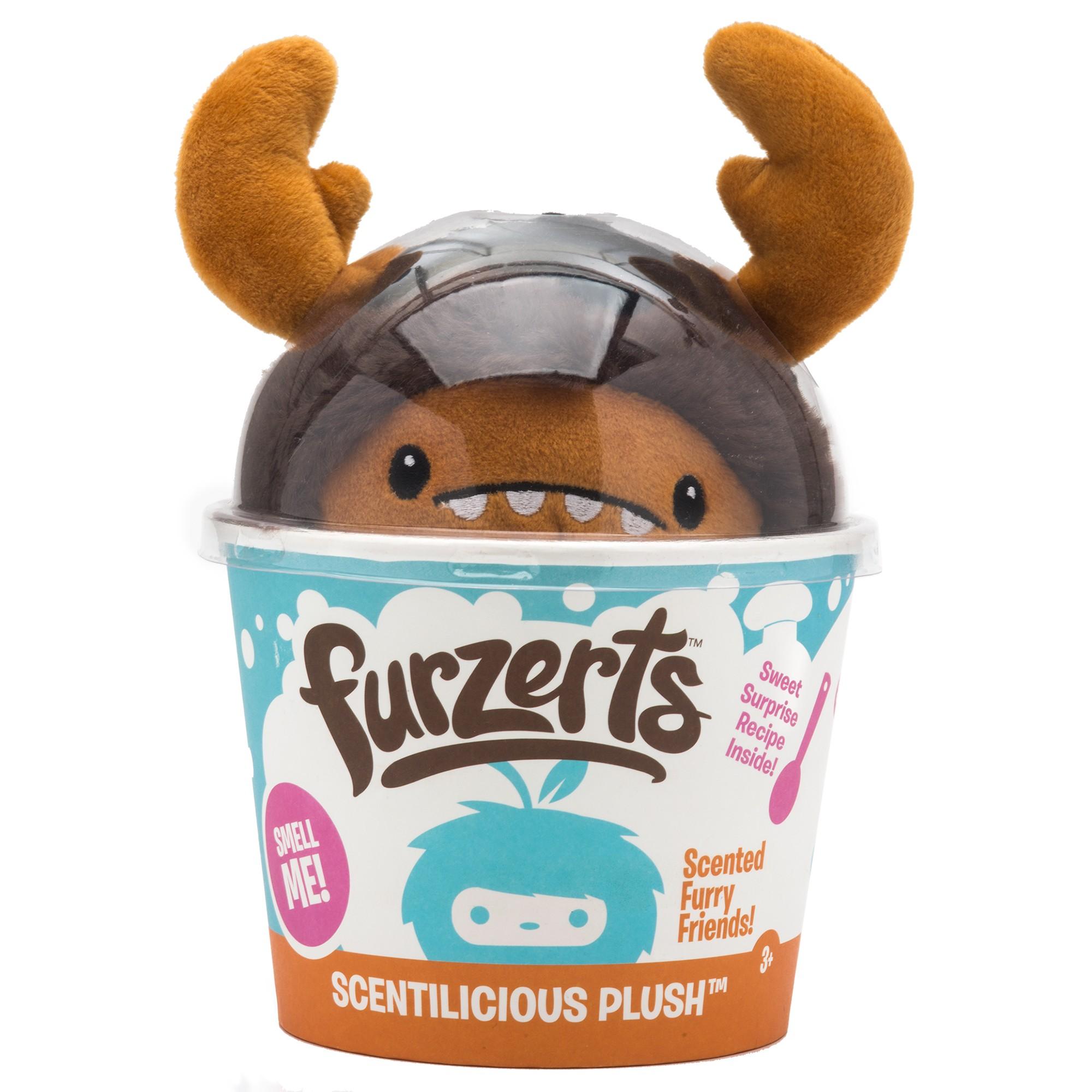 Купить Мягкая Игрушка Kangaru Furzerts Ароматный Плюшевый Десерт Лось Мэлвин Шоколадный Кекс,