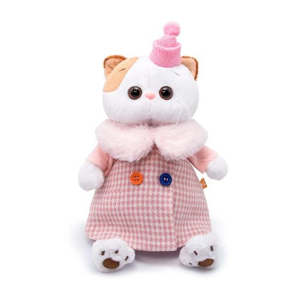 Мягкая игрушка BUDI BASA Кошечка Ли-Ли в комбинированном пальто, 24 см
