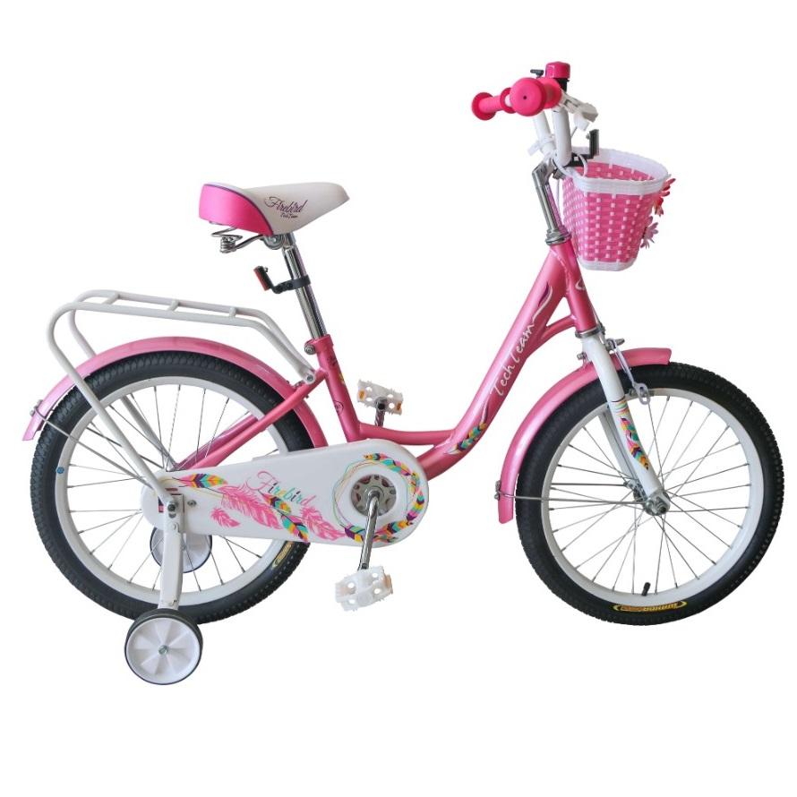 Купить Детский велосипед Tech Team Firebird 14 2020 розовый, Детские двухколесные велосипеды