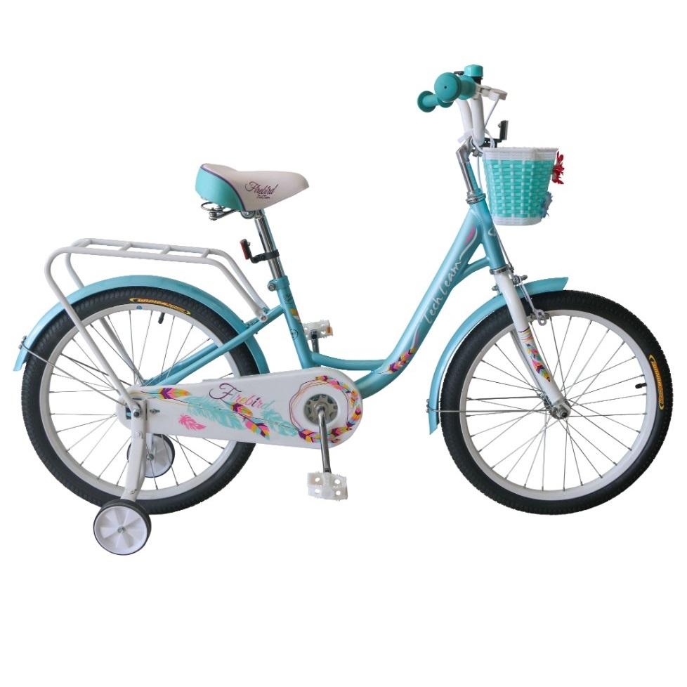 Купить Детский велосипед Tech Team Firebird 14 2020 бирюзовый, Детские двухколесные велосипеды