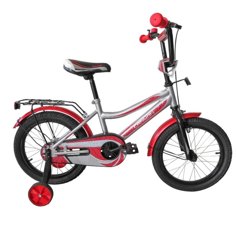 Купить Детский велосипед Tech Team Canyon 14 2020 серебро с красным, Детские двухколесные велосипеды