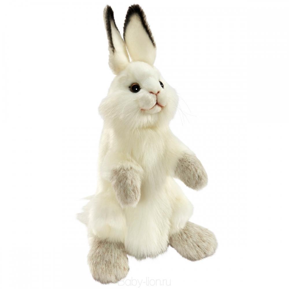 Мягкая игрушка на руку Hansa Белый кролик, 34 см