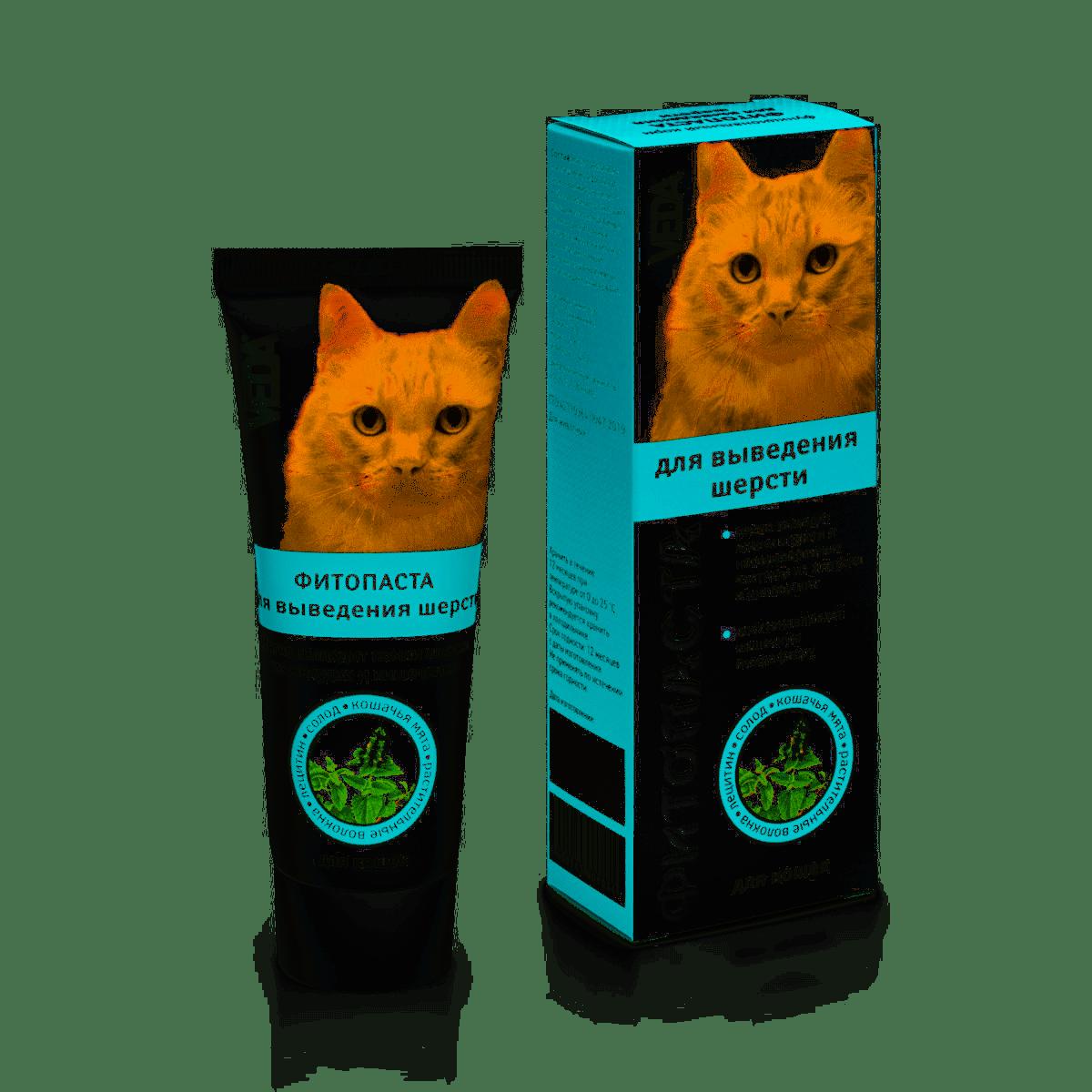 Паста для выведения шерсти кошек и хорьков
