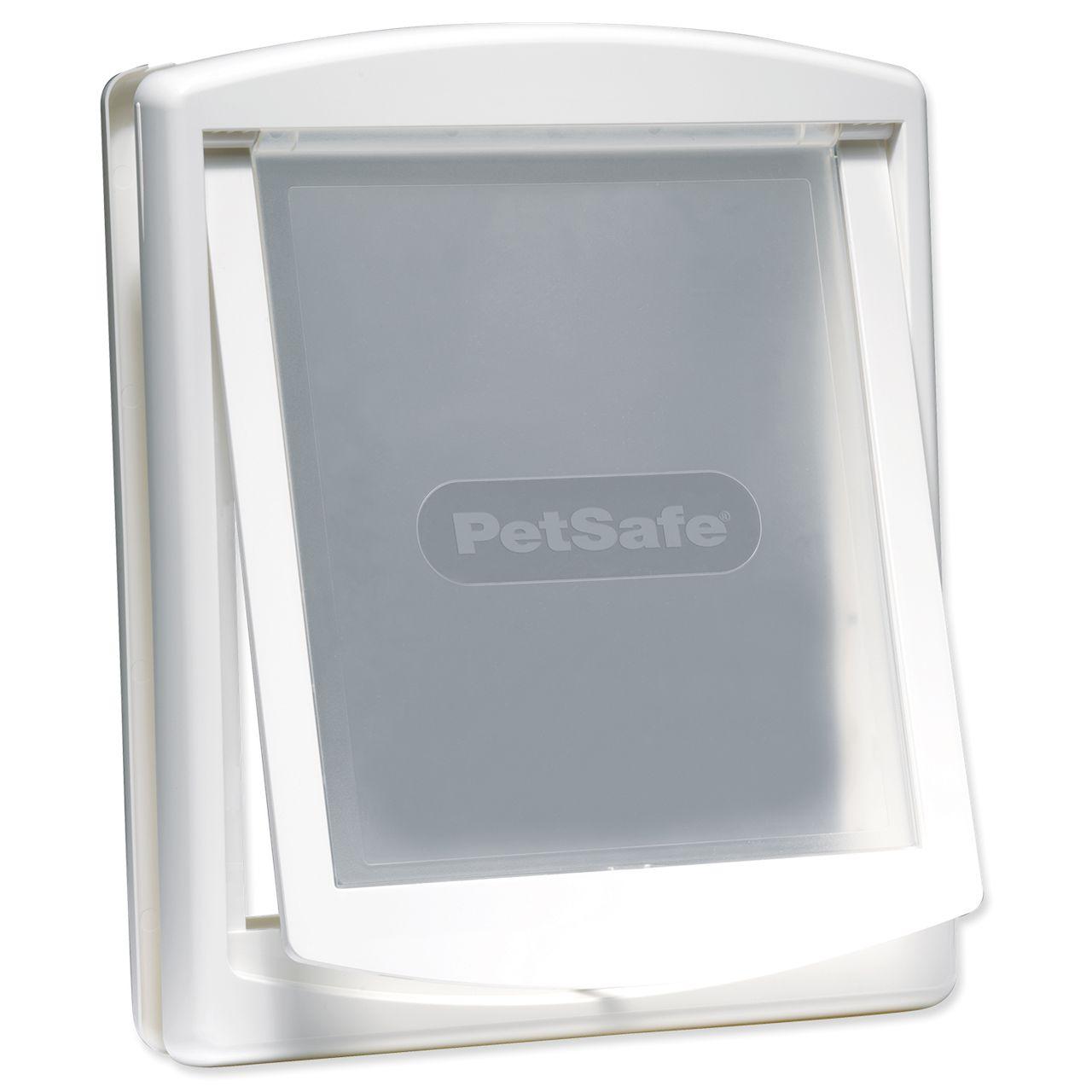 дверка пластиковая для животных, белая рама, прозрачная