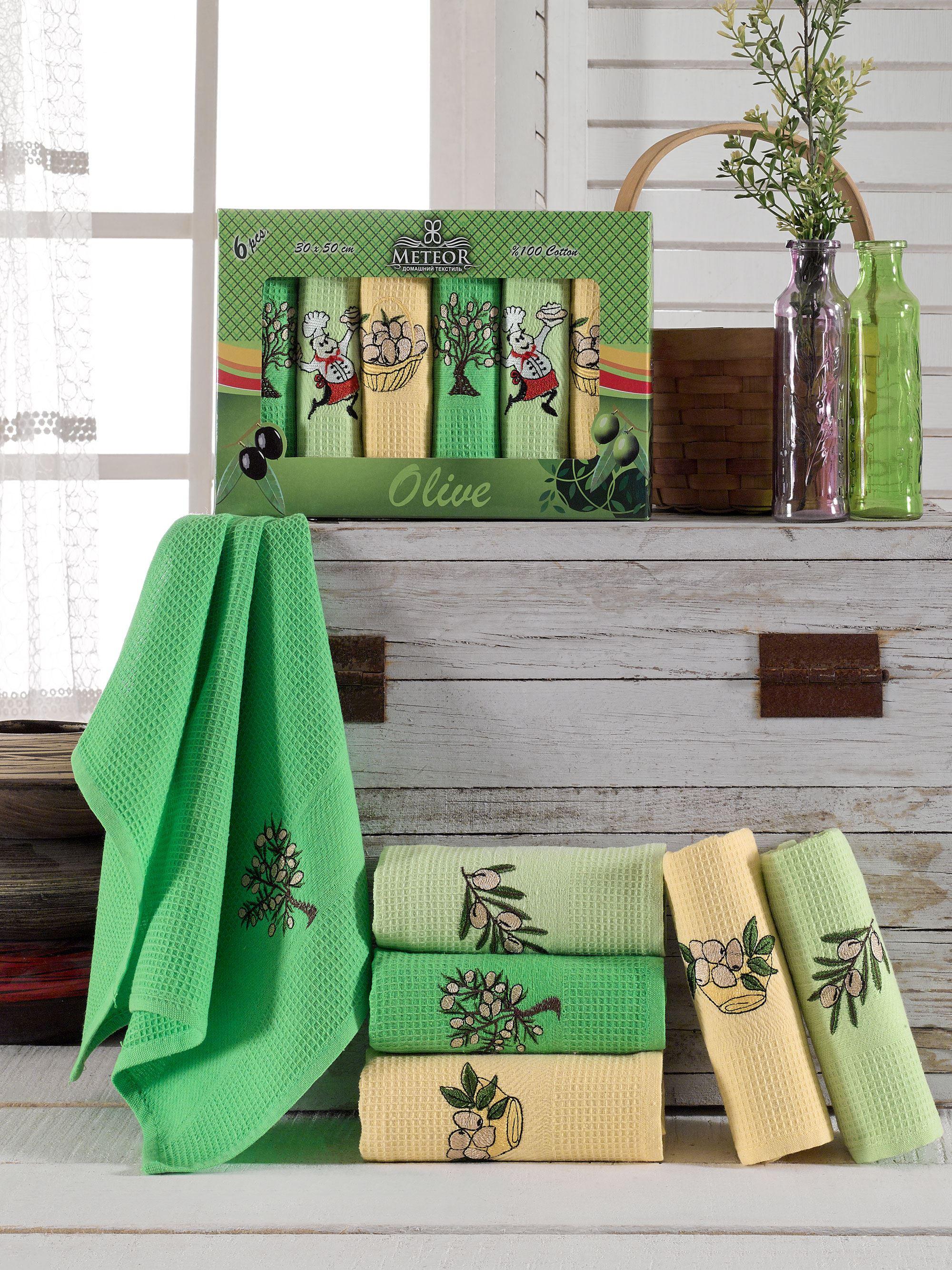 Кухонное полотенце Meteor Торшон Olive (30х50