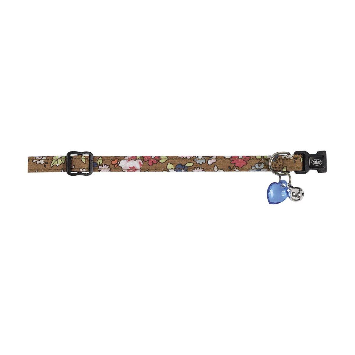 Ошейник Nobby для кошек, цветочный, коричневый, 10мм