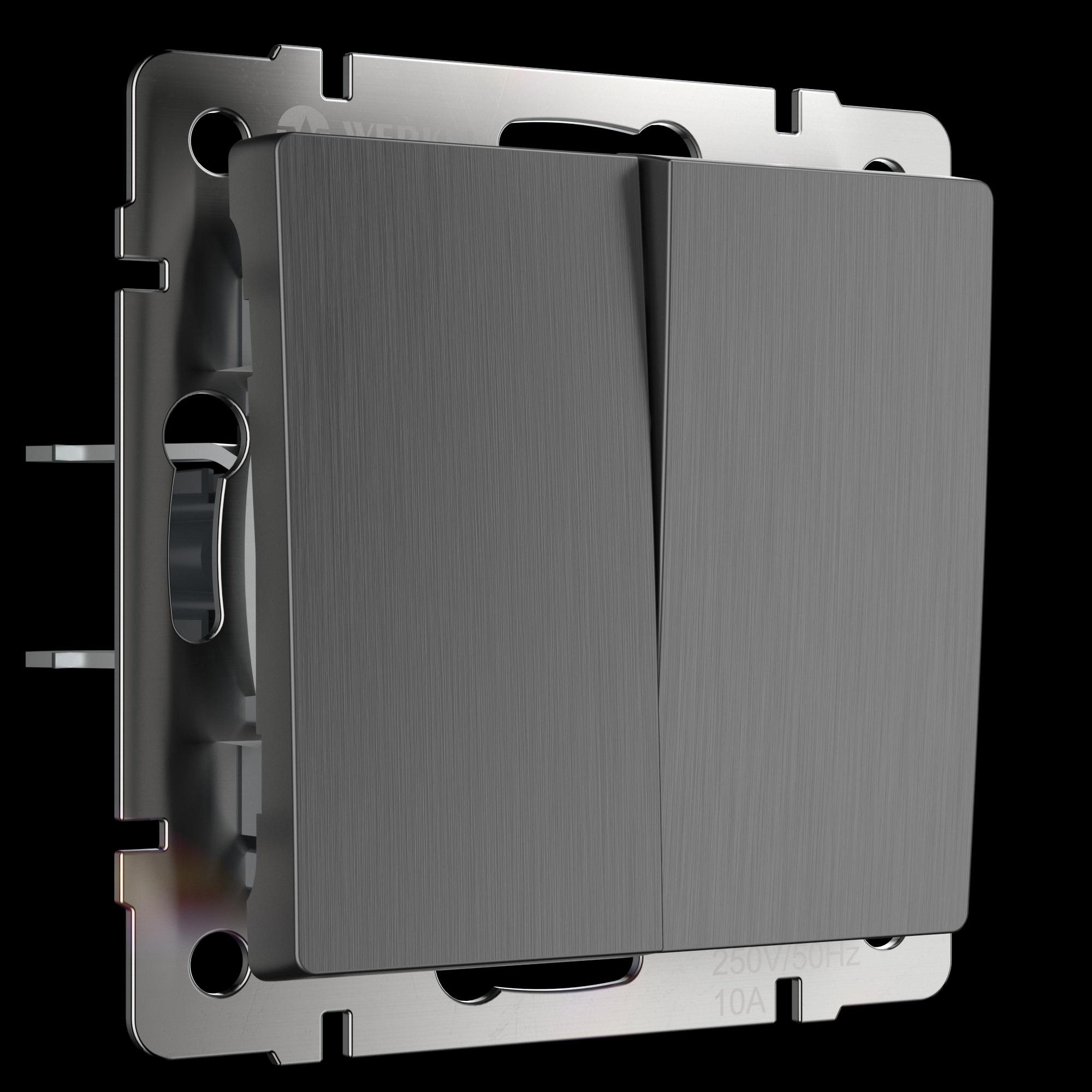 Выключатель двухклавишный проходной Werkel WL04-SW-2G-2W
