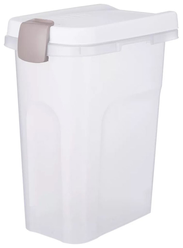 Контейнер для корма TRIXIE, прозрачно-белый, 15 л, 22х33х41 см