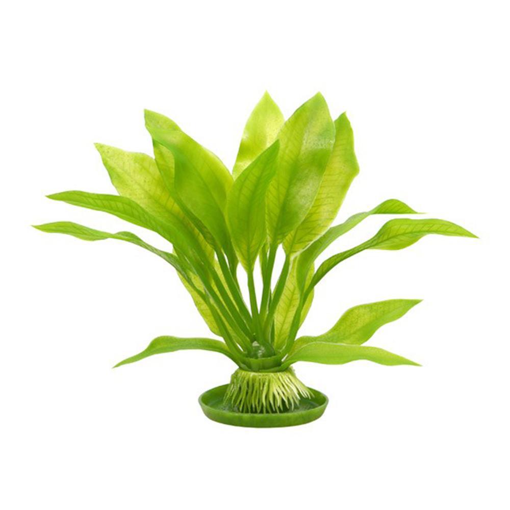 Растение пластиковое зеленое Амазонка среднее