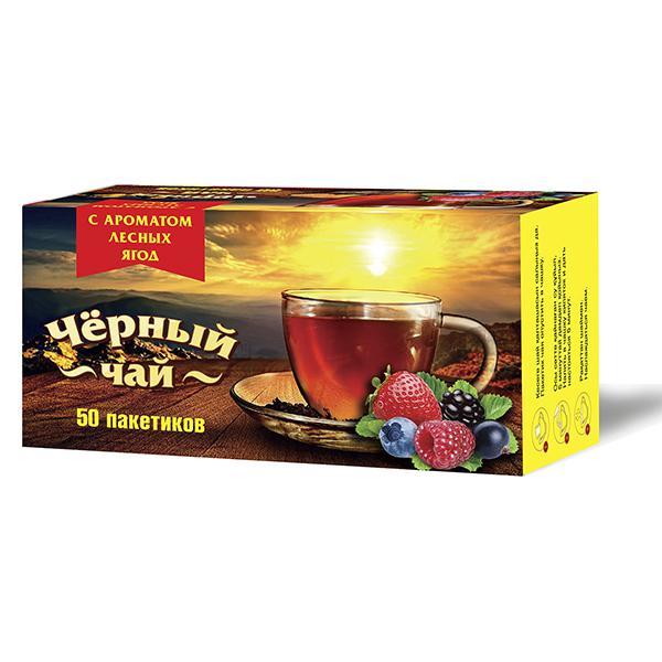 Чай Императорский черный байховый мелкий с ароматом лесных ягод 50 пакетиков фото