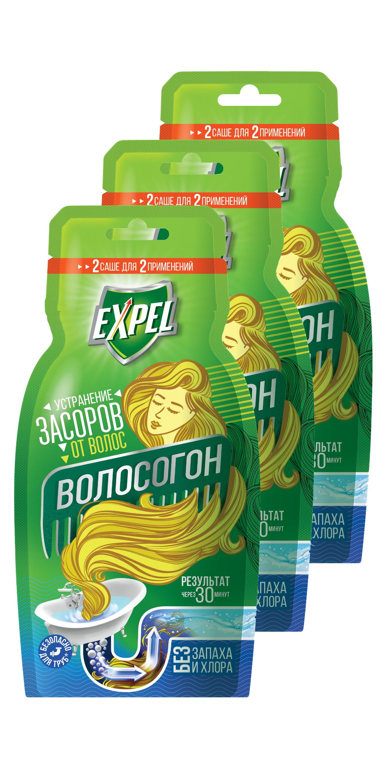Средство Expel для устранения засоров от волос