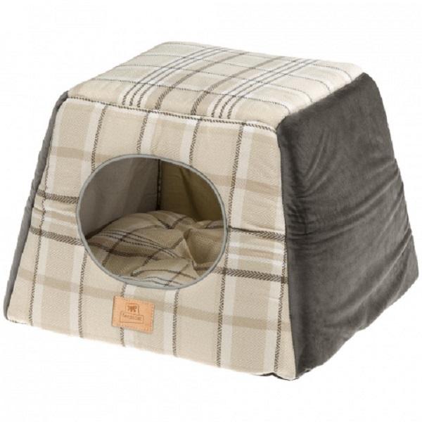 Домик для собак Ferplast Edinburgh, коричневый, 44x44x33см