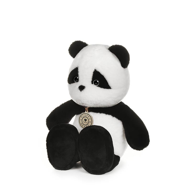 Мягкая игрушка Maxitoys Панда Fluffy Heart, 25 см