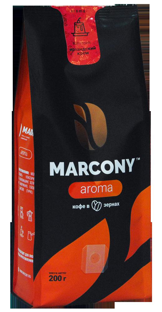 Кофе в зернах Marcony Aroma Ирландский крем 200г фото