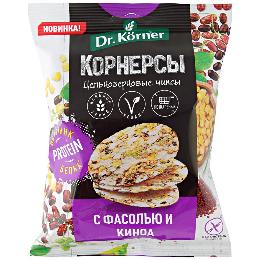 Чипсы Dr.Korner Кукурузно-рисовые с горошком фасолью и киноа 50г
