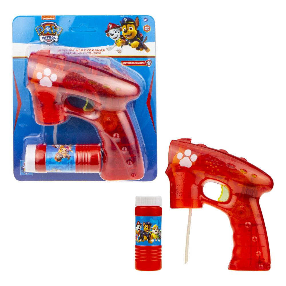 Пистолет с мыльными пузырями Щенячий патруль, световые