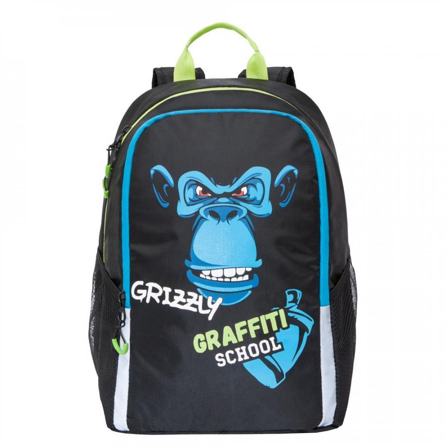 Купить Школьный рюкзак Grizzly для мальчика RB-051-6/1 черный, Школьные рюкзаки для мальчиков