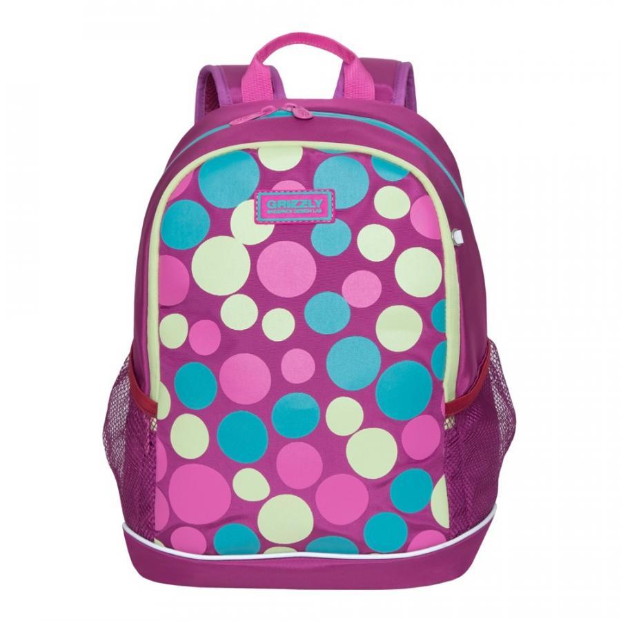 Купить Школьный рюкзак Grizzly для девочки RG-063-5/2 фиолетовый, Школьные рюкзаки для девочек