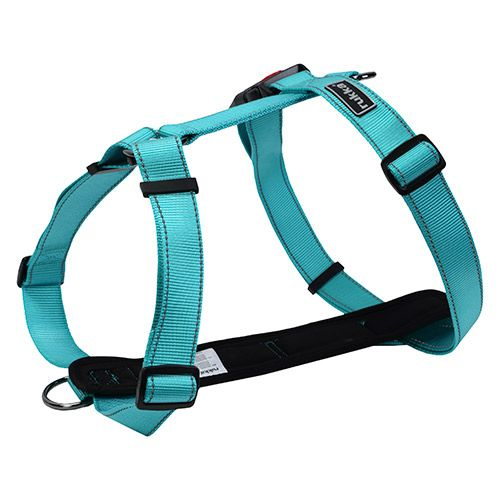 Шлейка для собак Rukka FORM, голубая, 40 мм, обхват 80-130 см фото