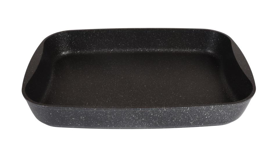 Противень а/пр литой 36,5х26х5,5см Темный мрамор