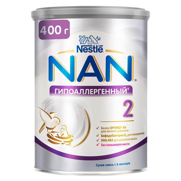 Купить Молочная смесь гипоаллергенная NAN 2 Optipro HA с 6 месяцев 400 г, Детские смеси 2 (от 6 до 12 мес)