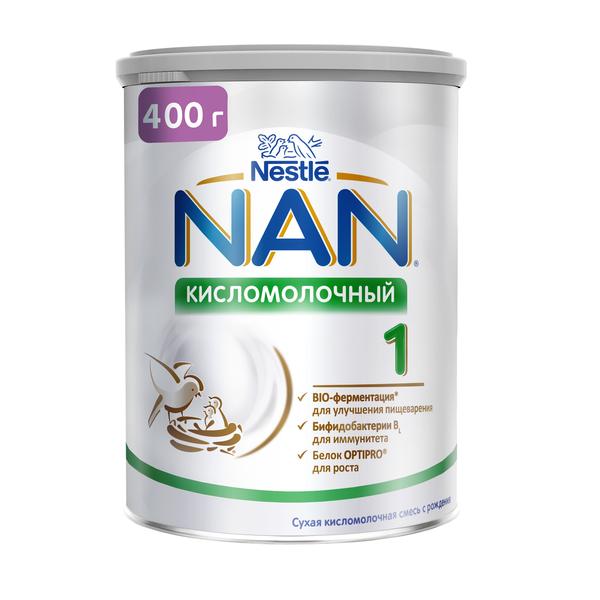 Купить Молочная смесь 1 (от 0 до 6 мес.) NAN 1 Кисломолочный 400 г, Детские смеси 1 (с рождения)