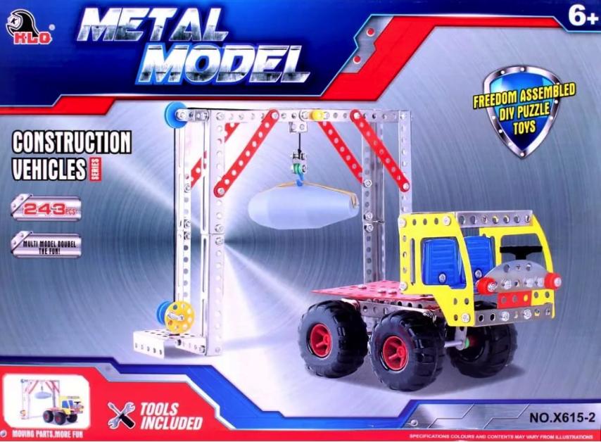 Металлический конструктор Toytoys Ворота и грузовик,