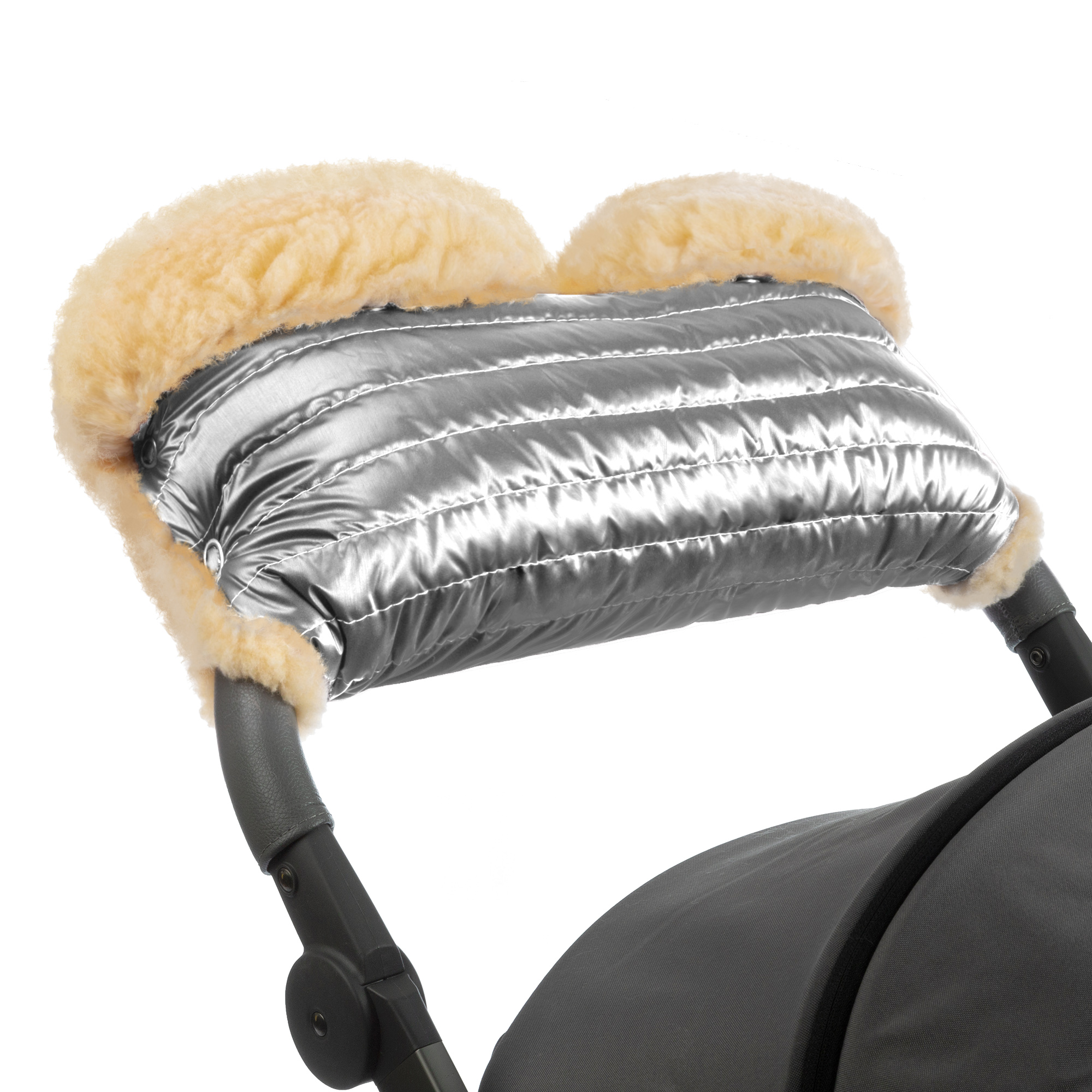 Купить Муфта для рук на коляску Esspero Diaz Lux Silver,