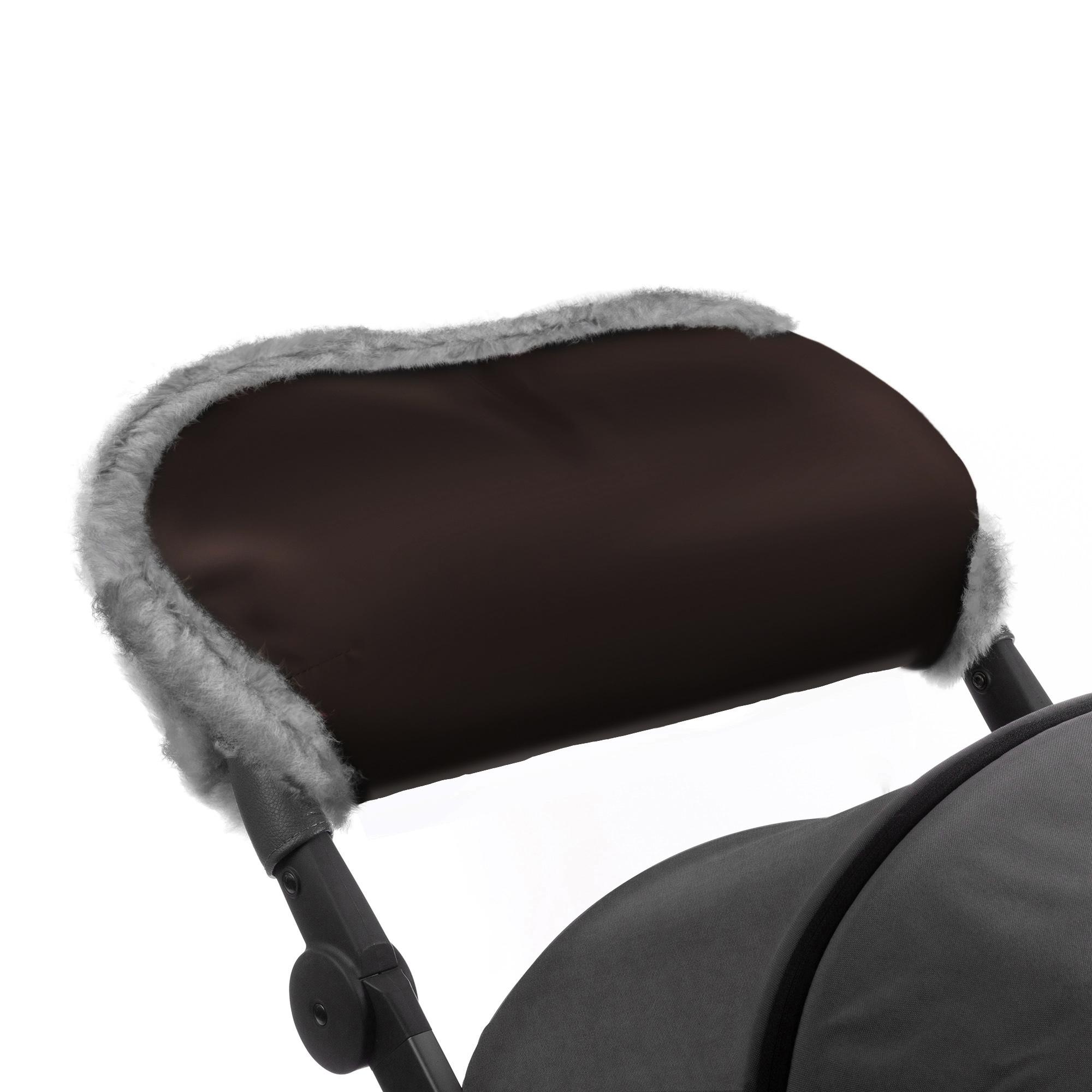 Купить Муфта для рук на коляску Esspero Solana Brown Натуральная шерсть, Муфты на коляску
