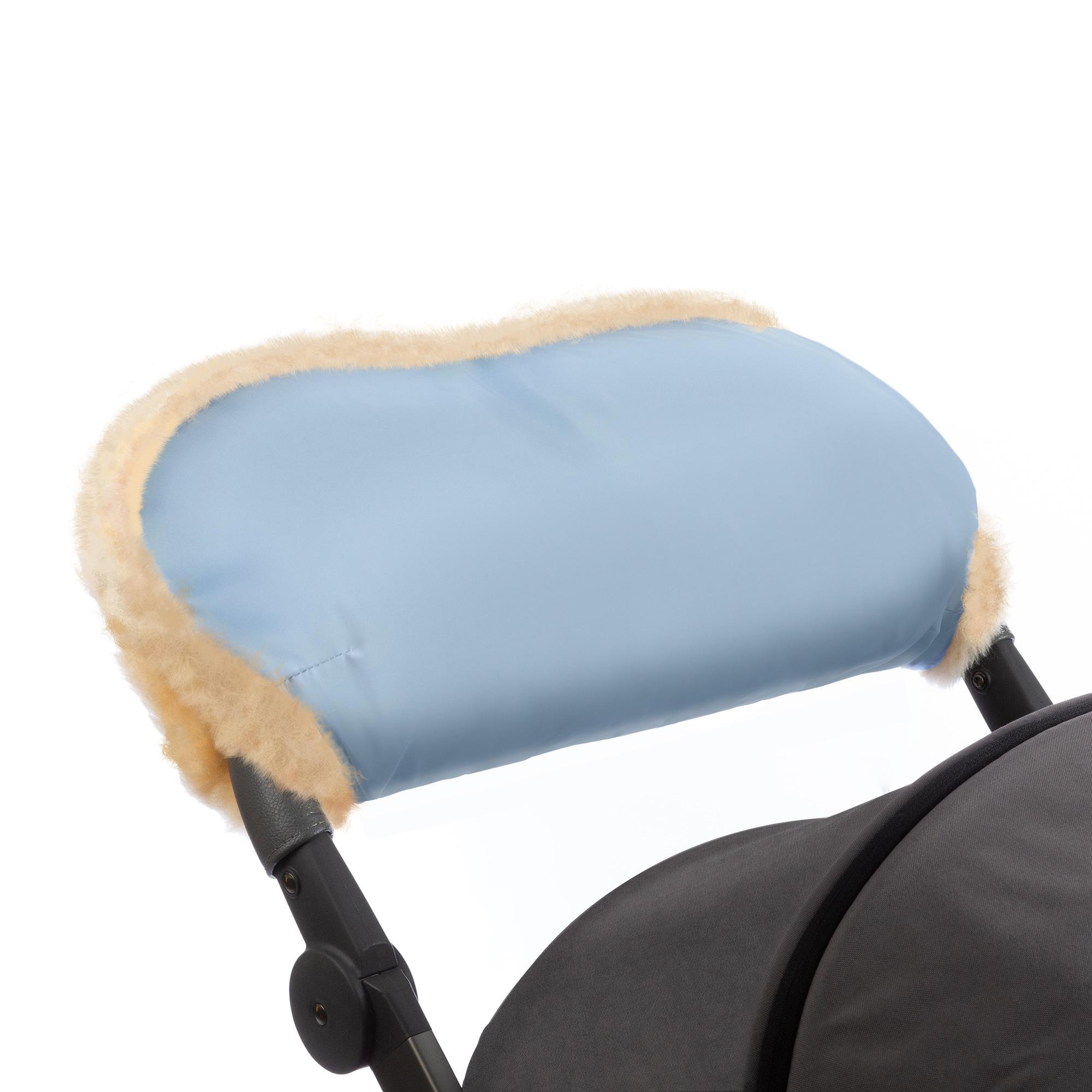Купить Муфта для рук на коляску Esspero Diaz Blue Mountain Натуральная шерсть, Муфты на коляску