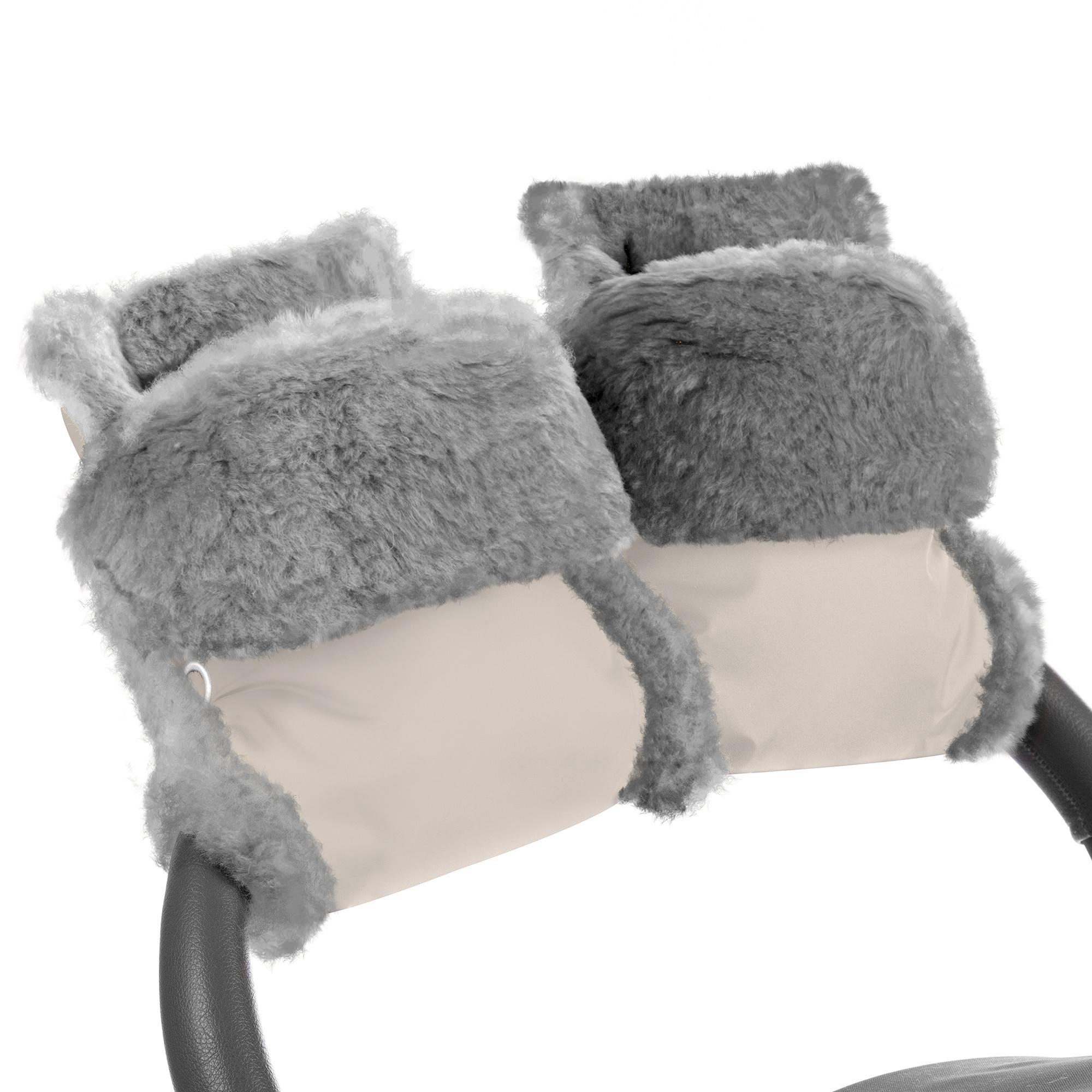 Купить Муфта-рукавички для коляски Esspero Christoffer Beige Натуральная шерсть, Муфты на коляску